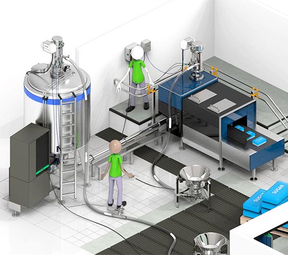 粉体輸送を機械化して粉塵対策|バキュームリフトで軽作業化|粉体輸送を機械化して粉塵対策
